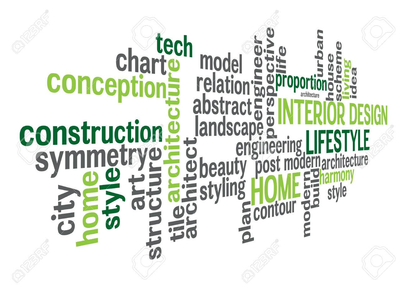 Interior Design And Lifestyle Word Cloud Concept In Vector Royalty Free Cliparts Vectors And Stock Illustration Image 28030621