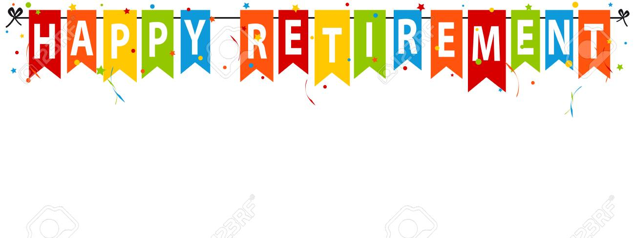 Happy Retirement Banner - Vector Illustration - Isolated On White Background - 100431716