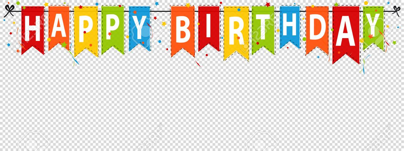 happy birthday banner background editable vector illustration
