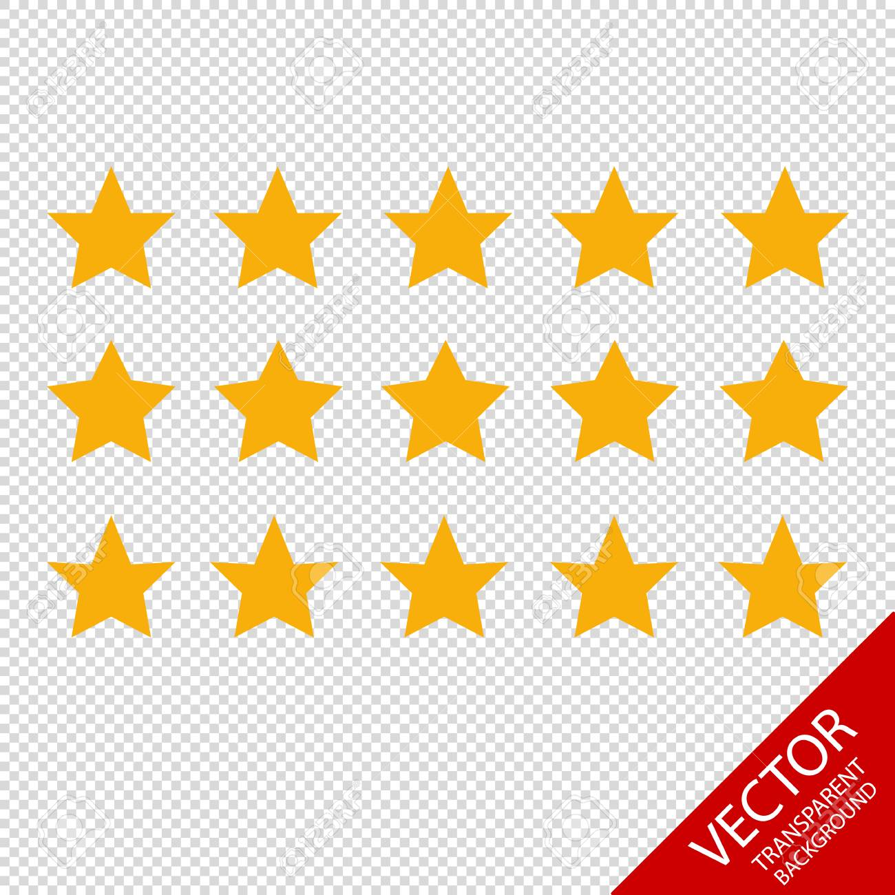 Product Rating Stars Different Vector Icons Isolated On