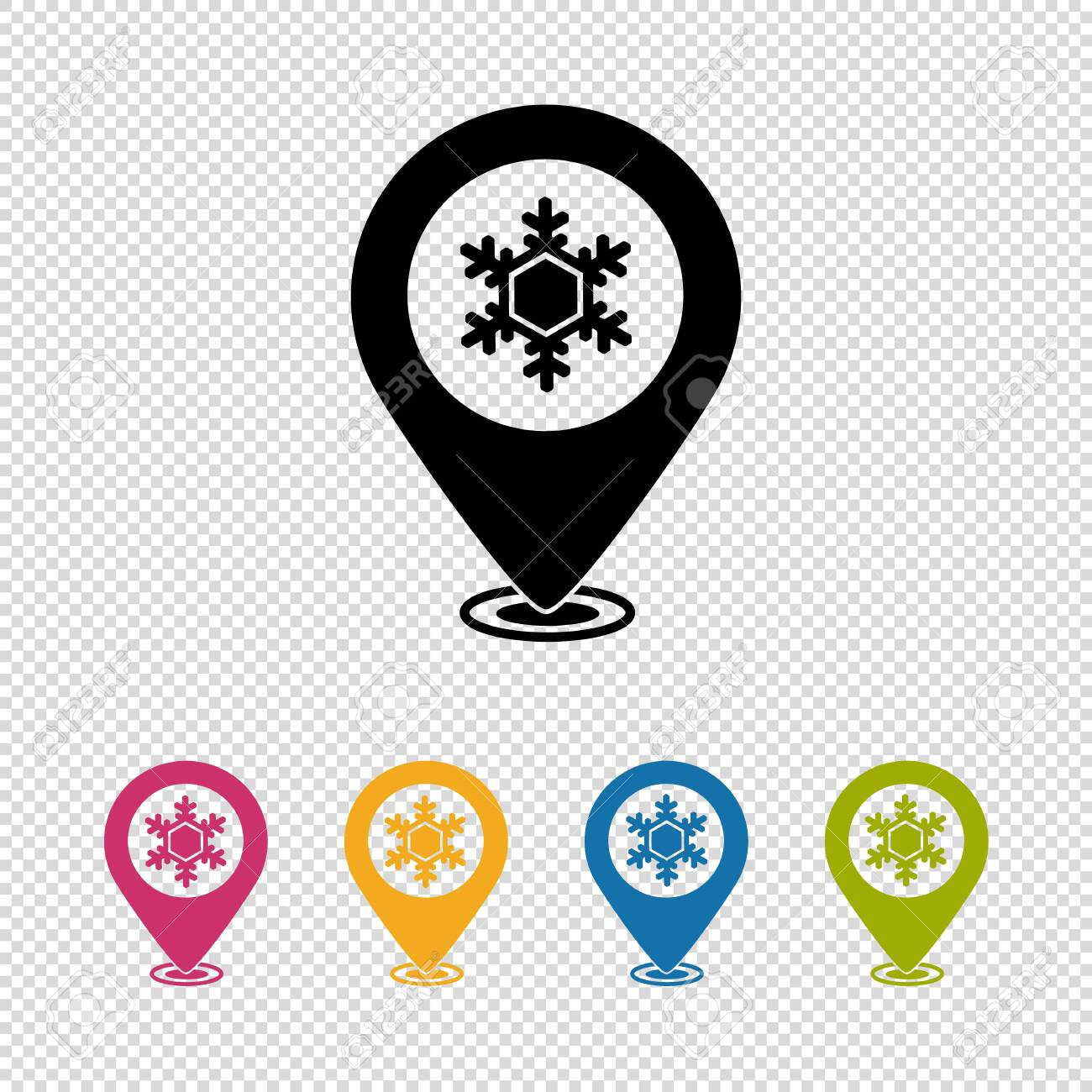 Map Pointer, Location Finder, Weather Icon - Vector Illustration