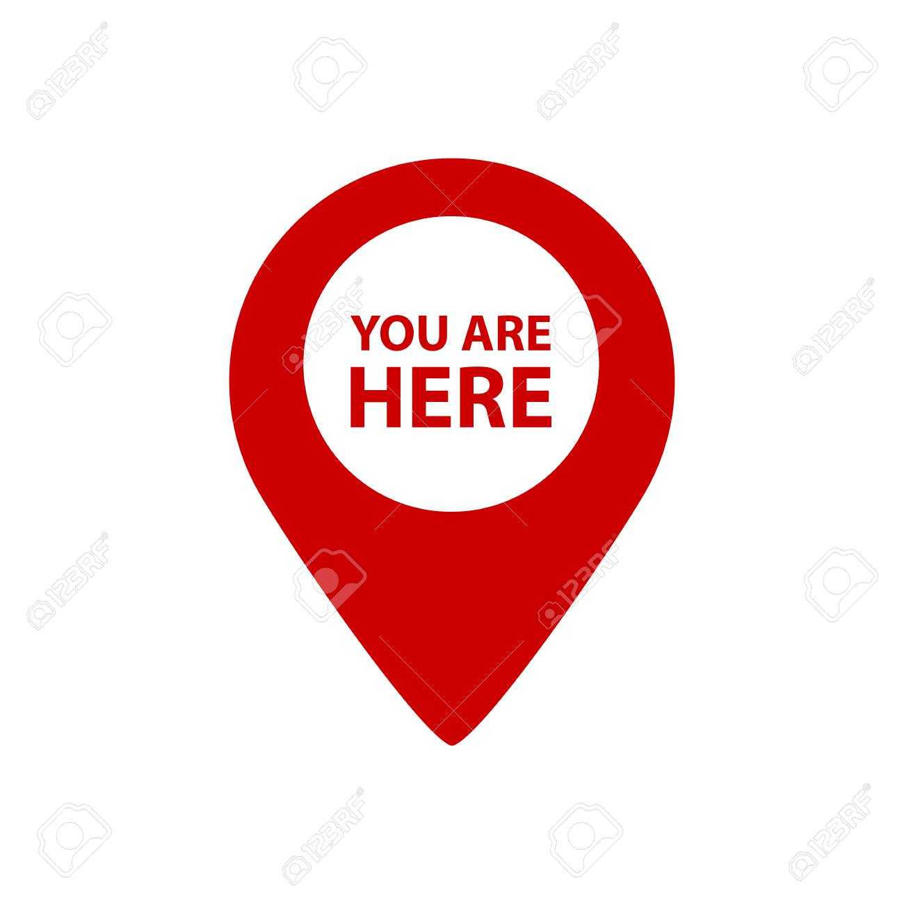 You Are Here Map Pointer - Vector Illustration - Isolated On White Background - 122819546