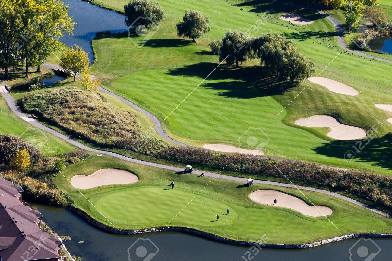 Golf La Prairie >> Aerial View Over The Laprairie Golf Course Seen At Fall On The