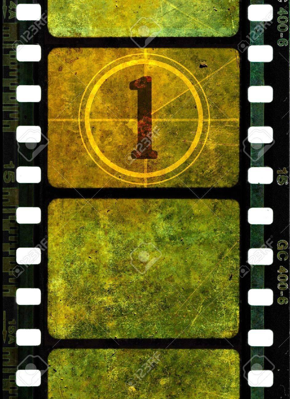 Vintage 35 Mm De Rollo De Película, De Colores Marcos Grunge Con ...