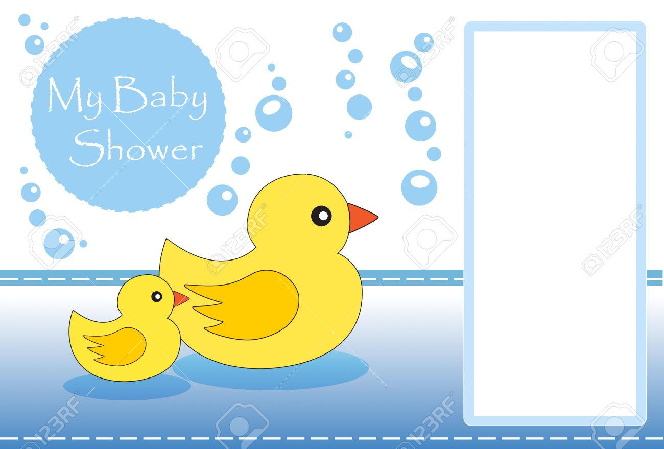 New Baby Shower Invitation With Space For Your Text Stock Photo