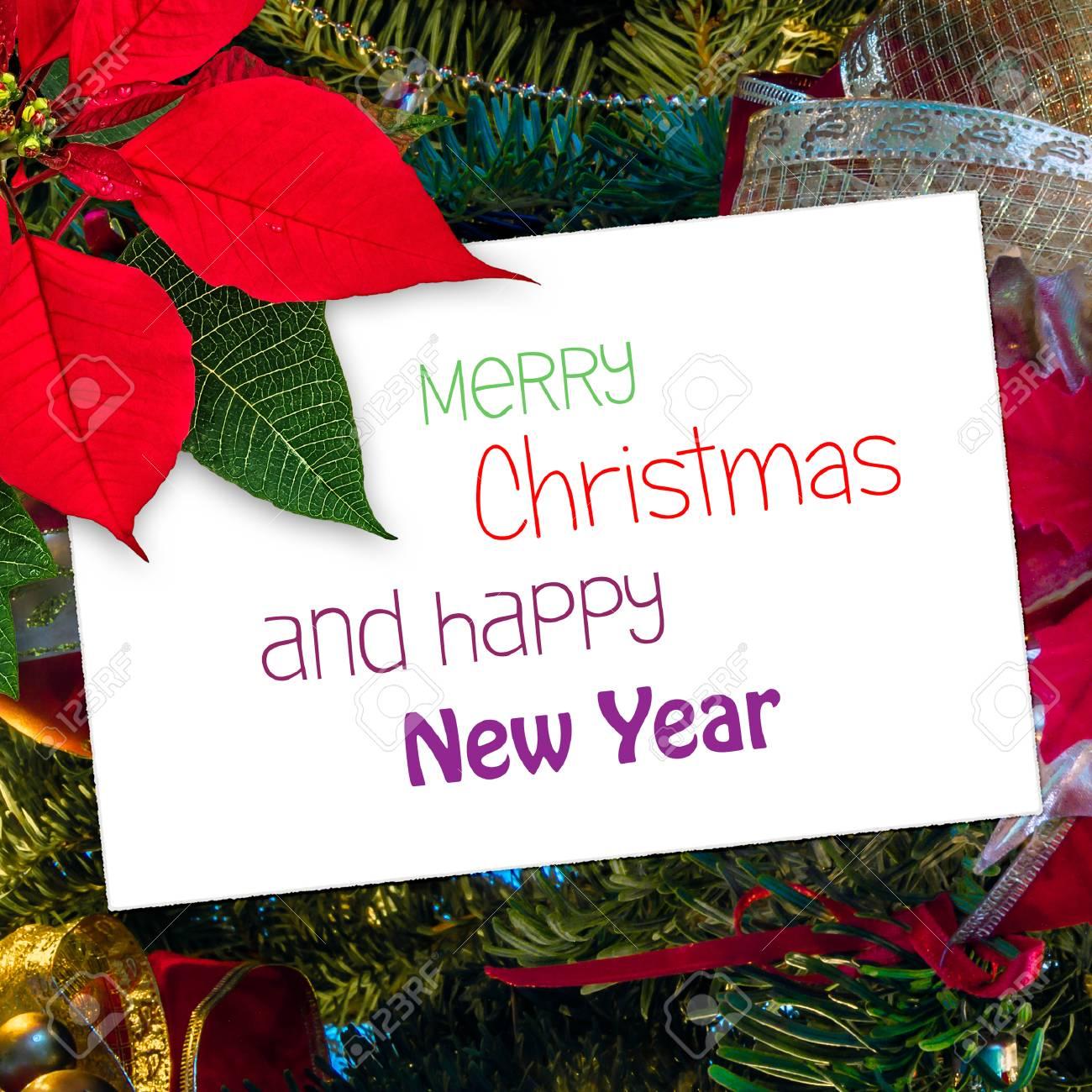 Buon Natale Del C Testo.Immagini Stock Biglietto Di Auguri Di Natale Con Decorazione Buon