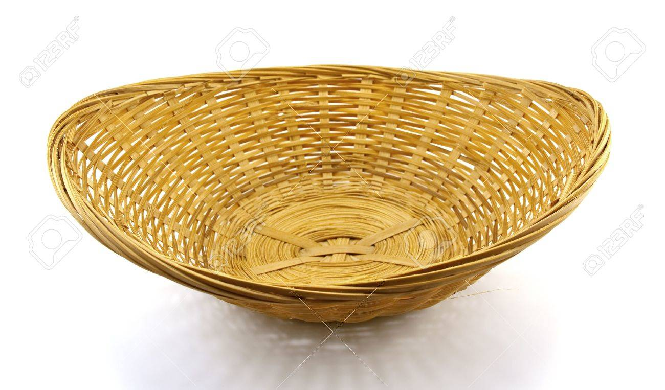 Wattled basket isolated on a white background Stock Photo - 5737401