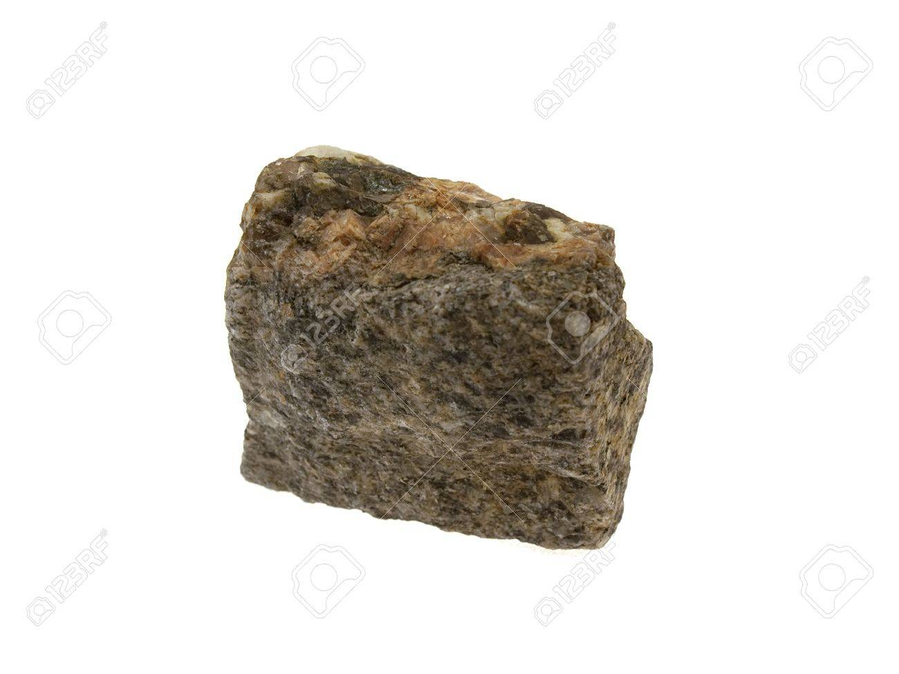 Small piece of a granite stone isolated on a white background Stock Photo - 5801742