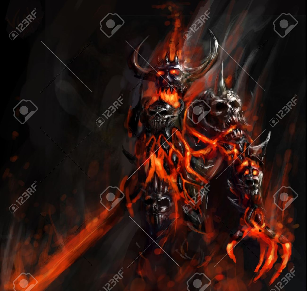 apocalyptic flaming doom bringer of hell Stock Photo - 12155127