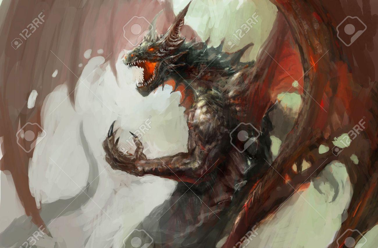 図は神話の生き物のドラゴン の写真素材・画像素材 Image 14801374.