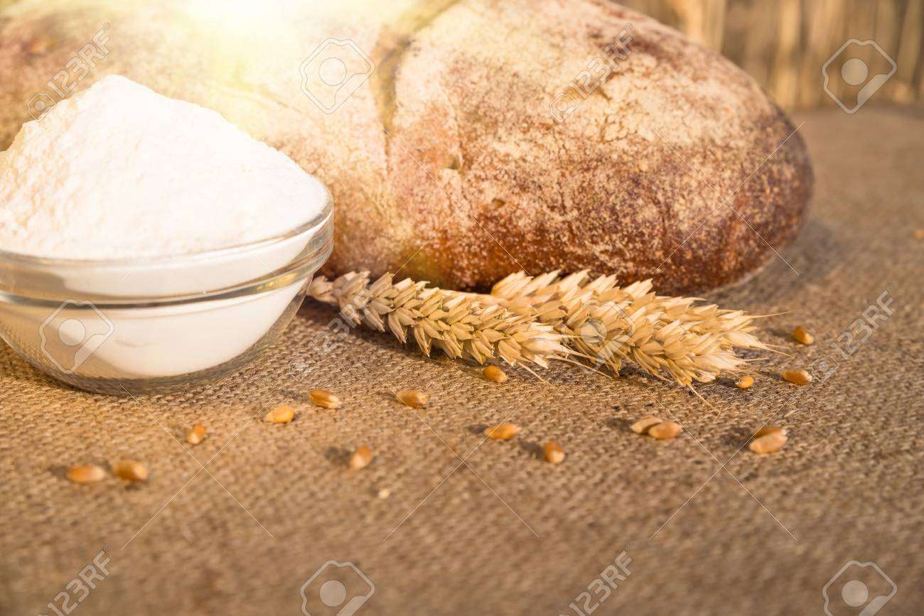 Image result for flour and a loaf of bread