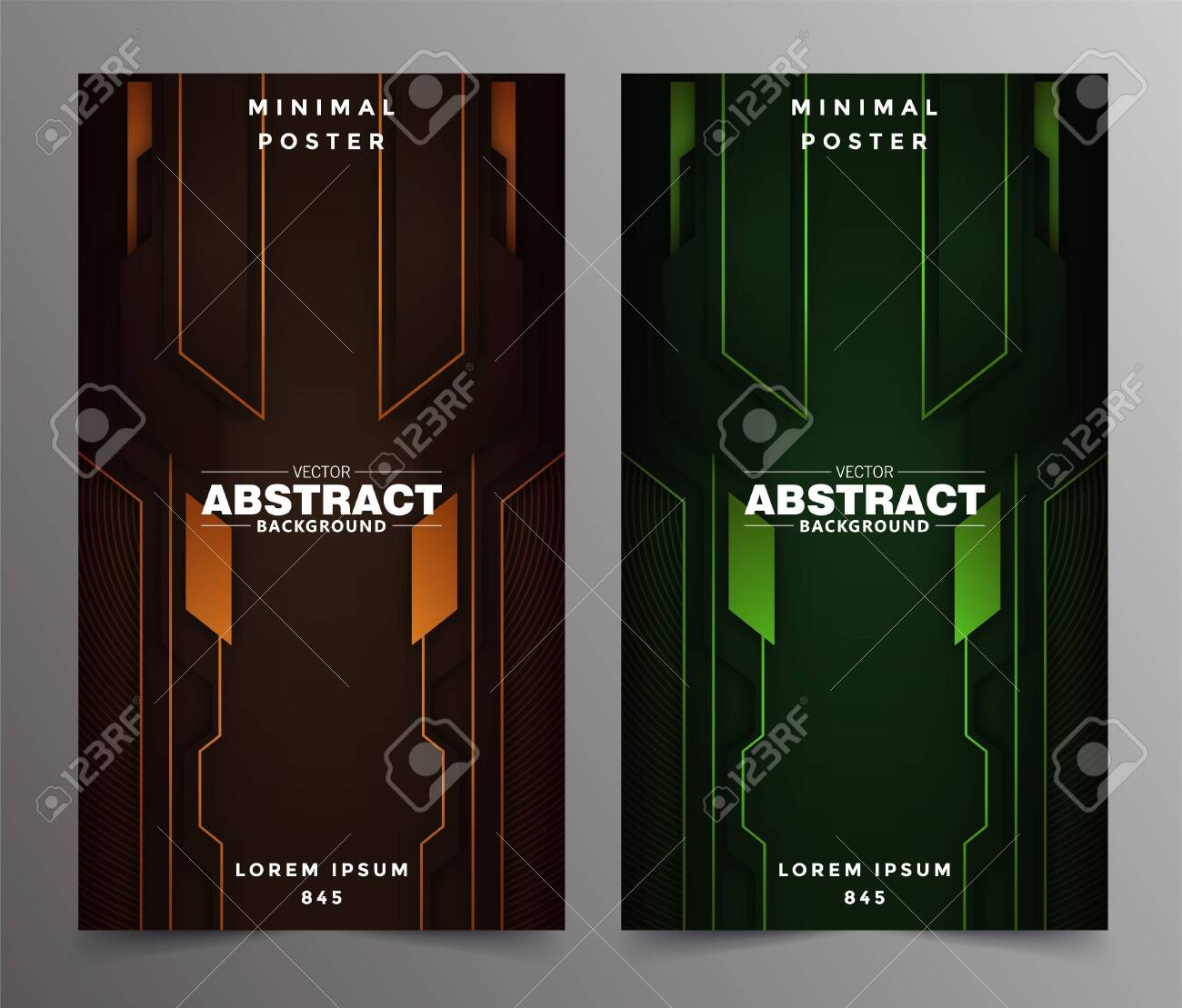 Abstract technology includes minimal luxury design - 149337147