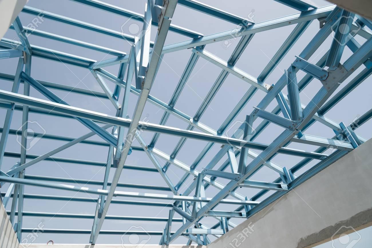 Estructura De Marco De Techo De Acero Para La Construcción De ...