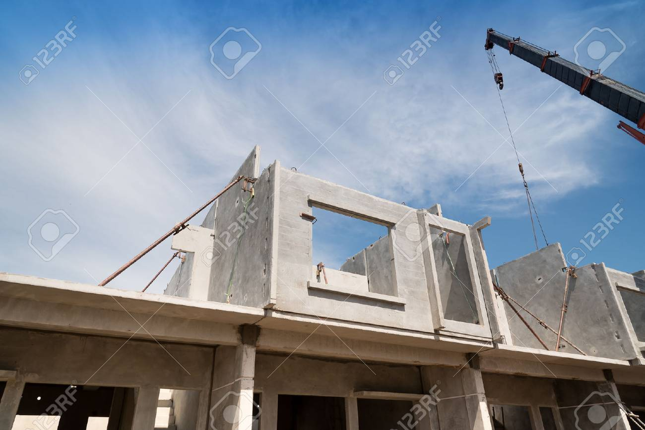 Installation Process Of Prefabricated Wall Panels For Residential Stock Photo Picture And Royalty Free Image Image 85852737