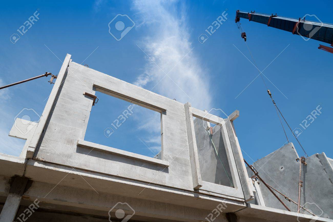 Installation Process Of Prefabricated Wall Panels For Residential Stock Photo Picture And Royalty Free Image Image 85852739