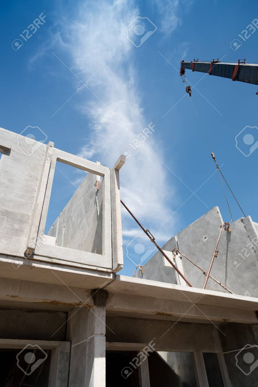 Installation Process Of Prefabricated Wall Panels For Residential Stock Photo Picture And Royalty Free Image Image 85852740