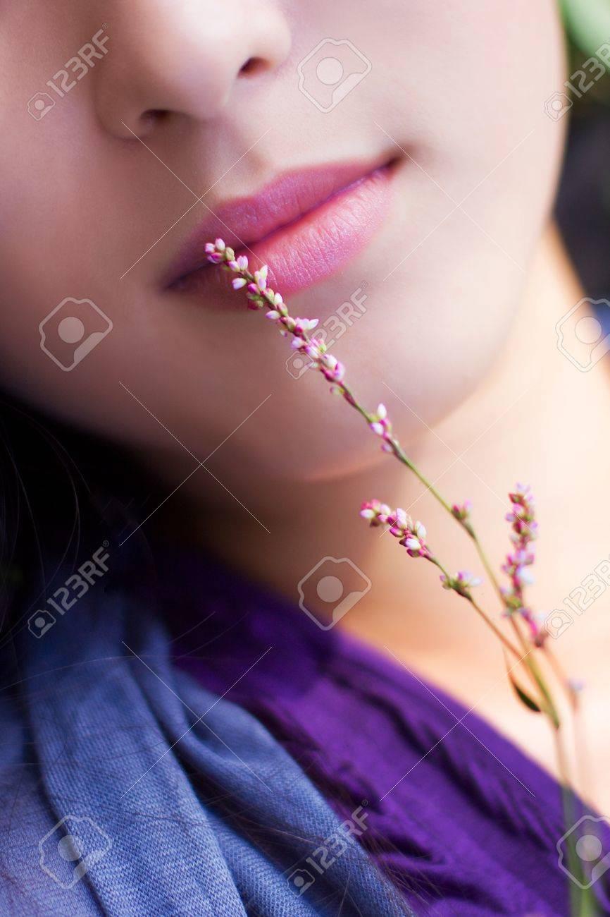 Pink lips Stock Photo - 10746465