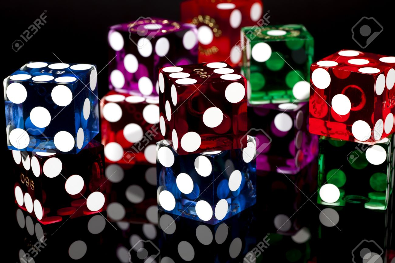 Colorful Las Vegas Gaming Dice