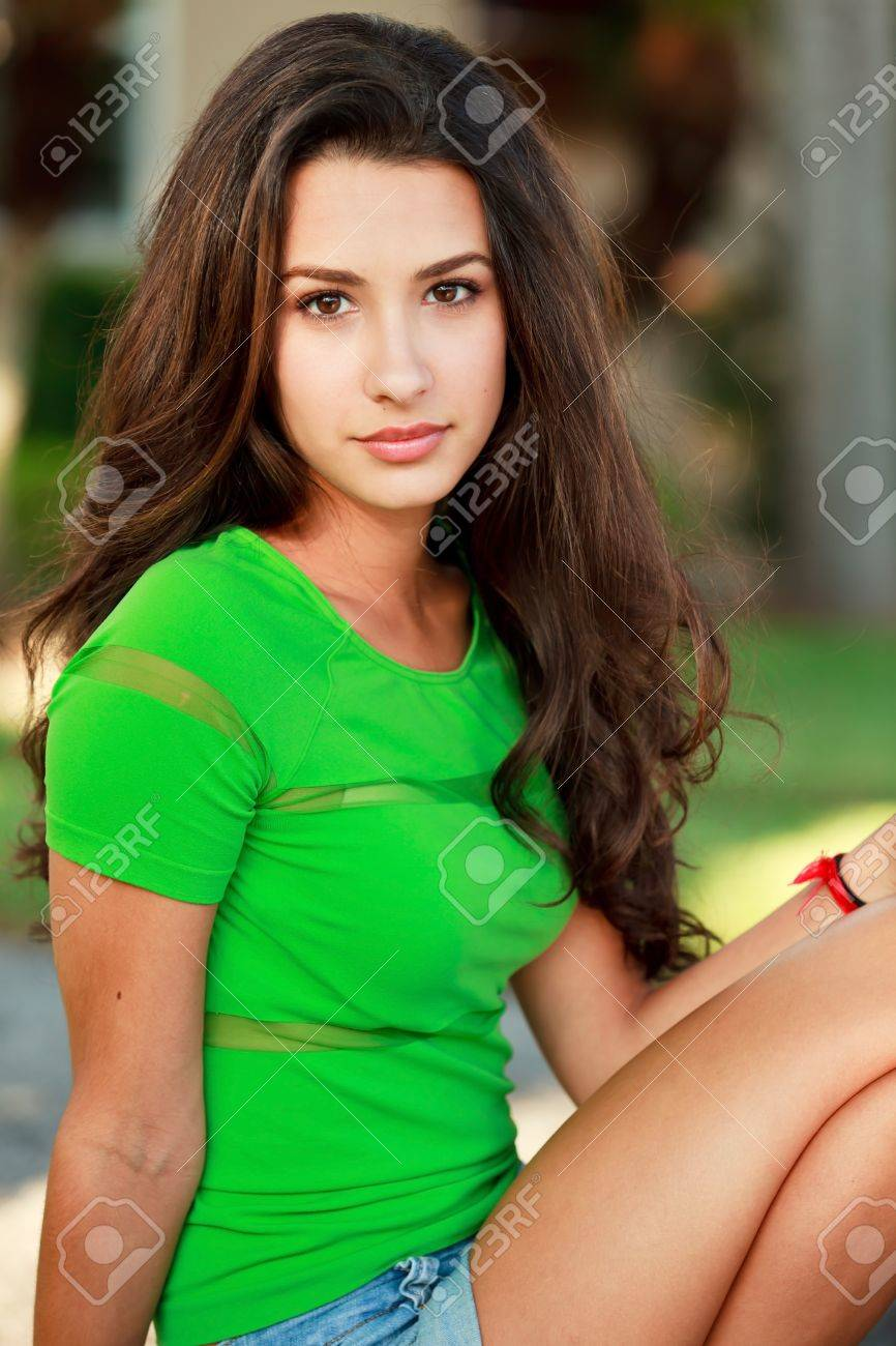 Pretty Multicultural Young Woman in an Outdoor Lifestyle Stock Photo - 8385458