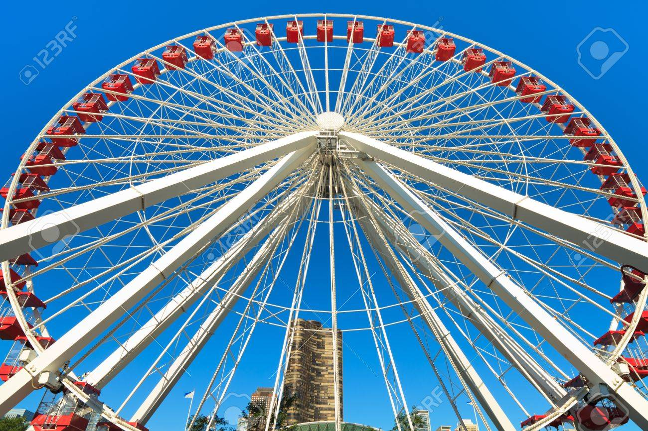 Navy Pier Ferris Wheel Chicago Stock Photo - 10529448