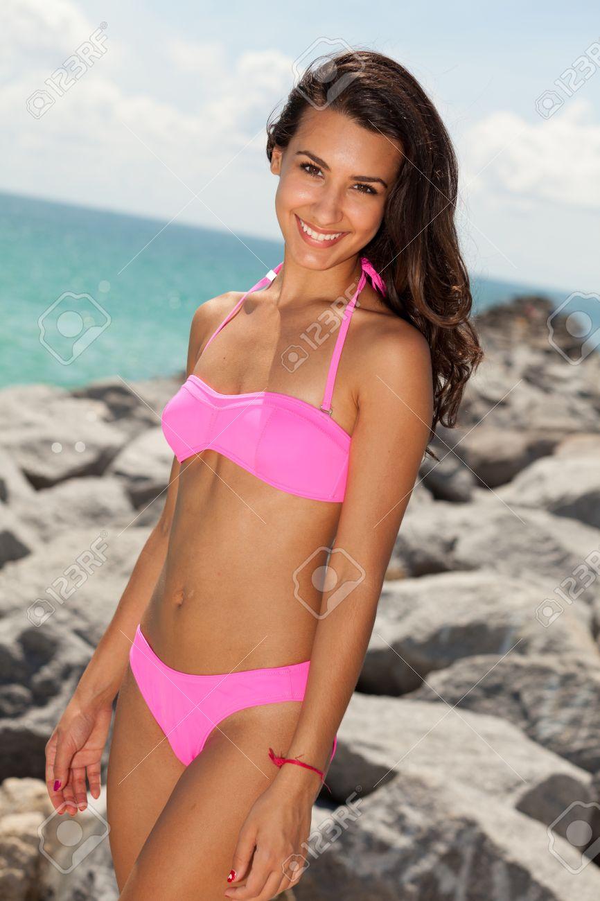 Spanish girl in bikini
