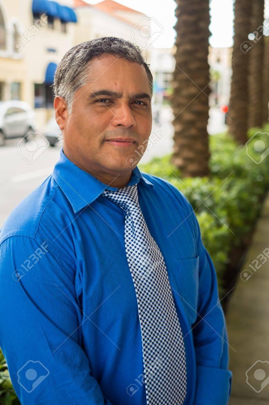 Middle aged hispanic man