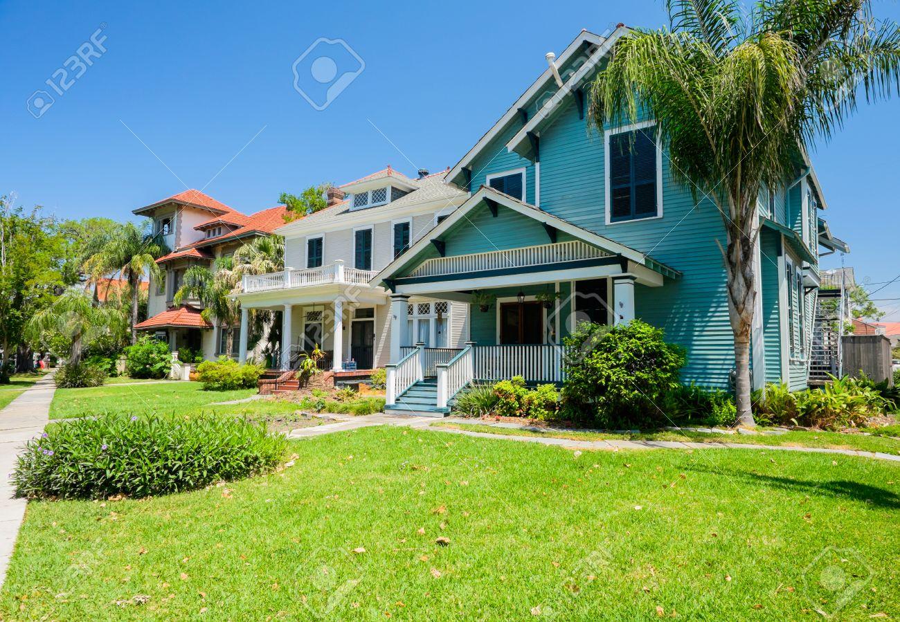 Typiques Maisons De Style Du Sud De La Nouvelle-Orléans, En ...