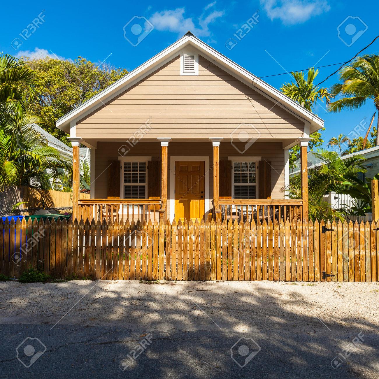 Key West Florida Usa 3 Marz 2015 Typische Holz Rahmen
