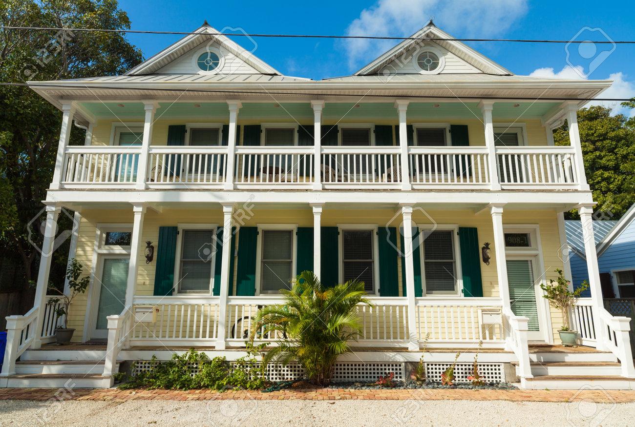 Key West Florida Usa 2 Marz 2015 Typische Holz Rahmen