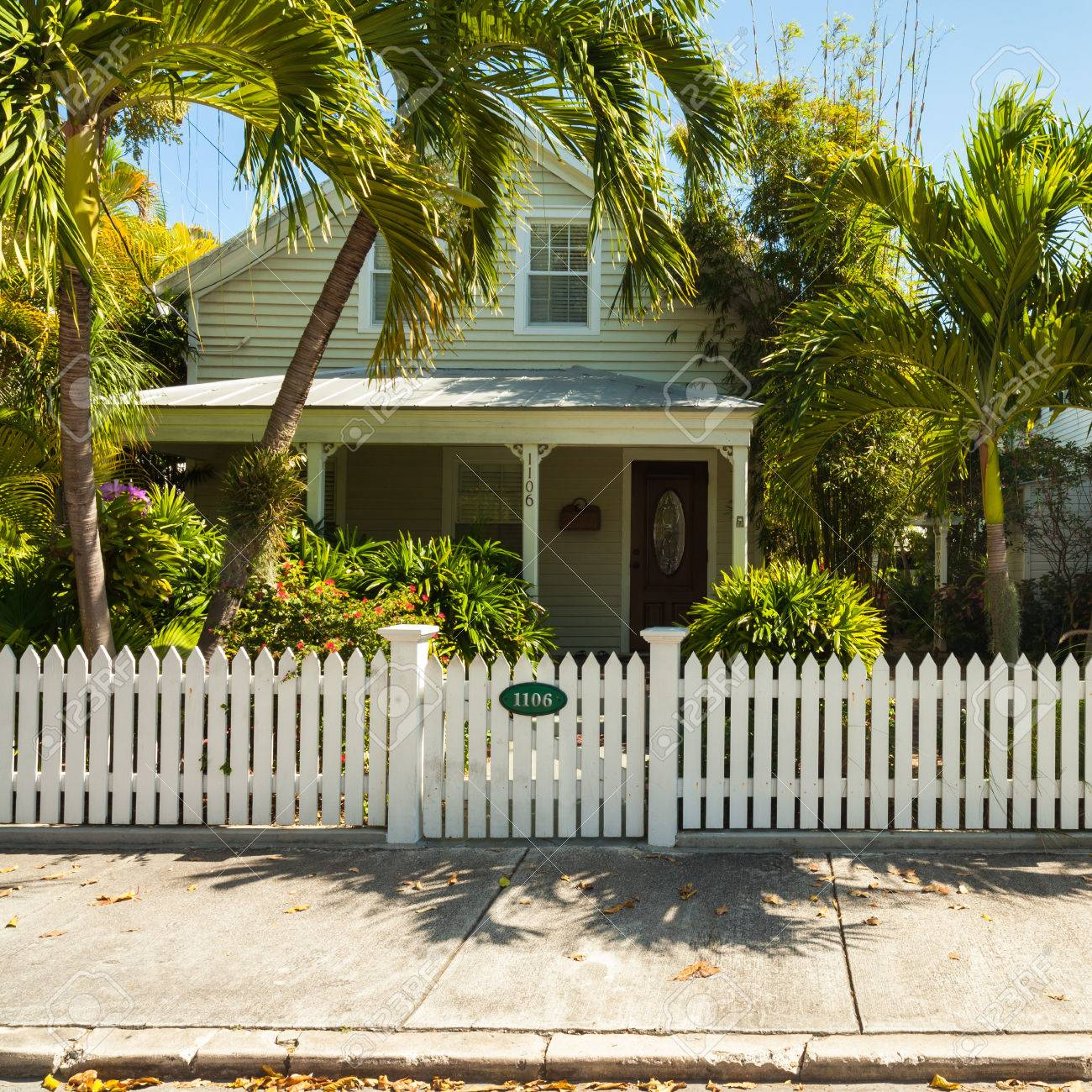 Key West, Florida USA   March 5, 2015: Typical Wood Frame Architecture Style