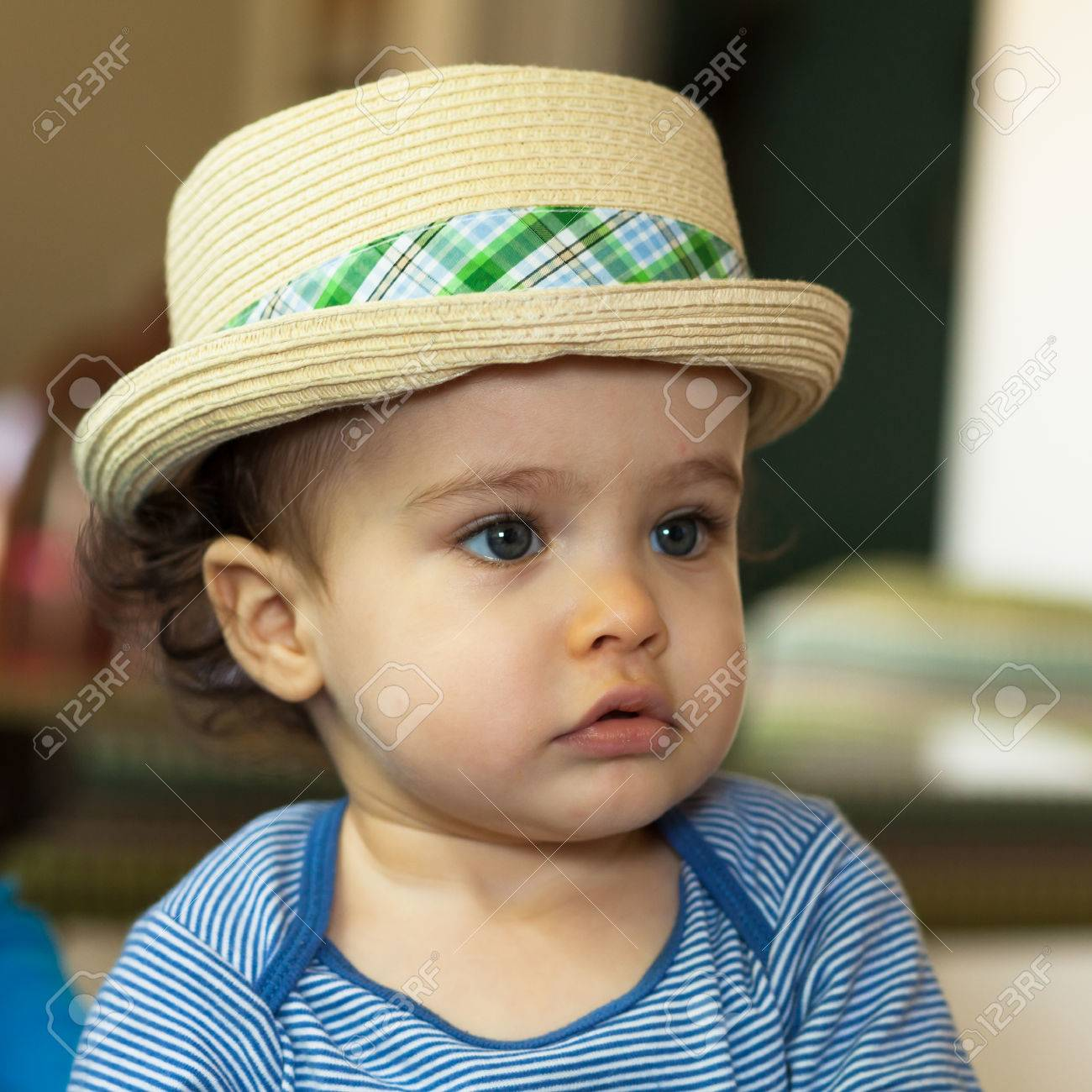 Look - Baby stylish boy with hat video
