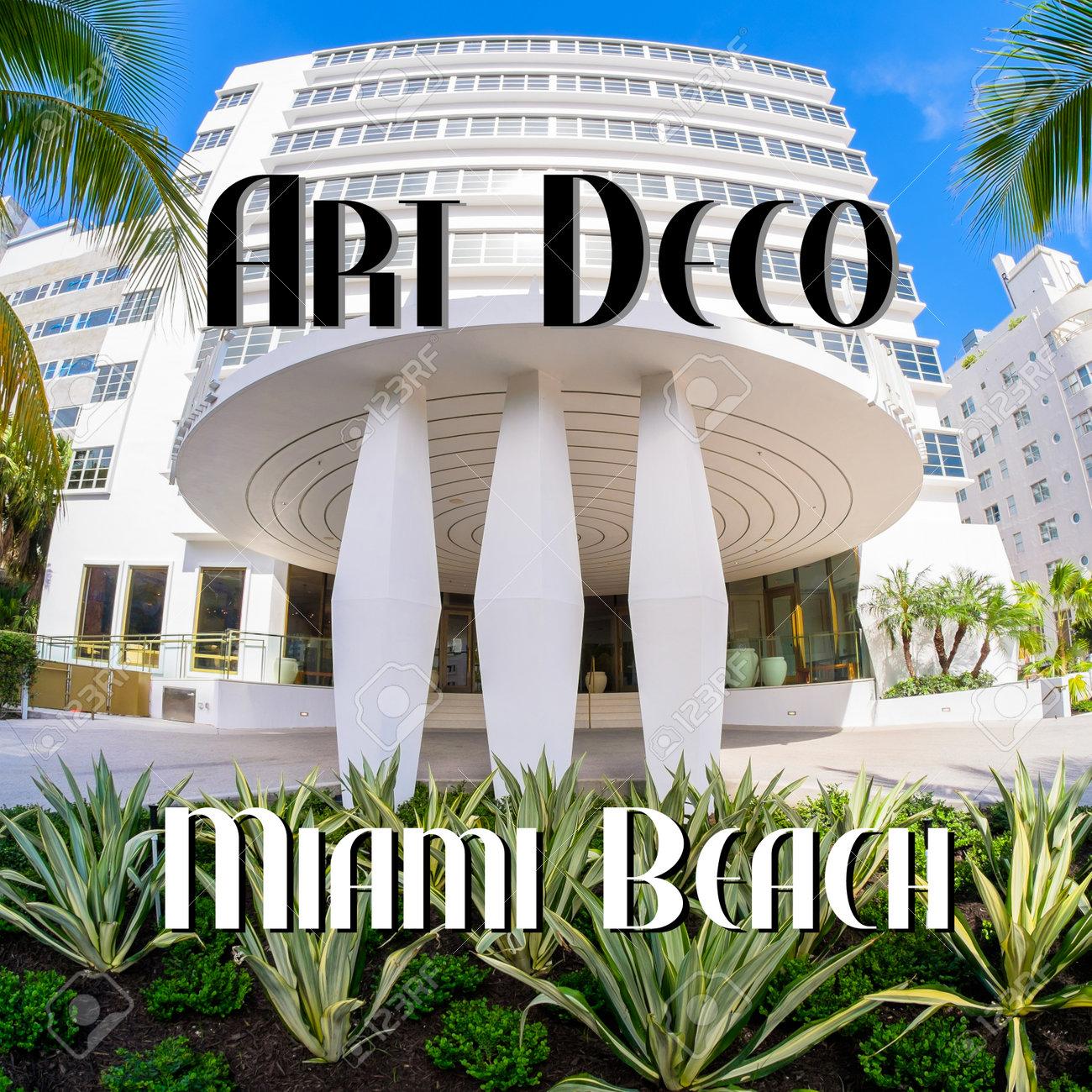 miami beach art deco architecture stock photo picture and royalty