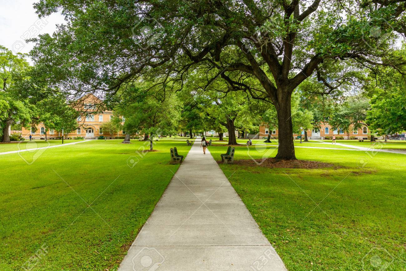 Typical American college campus