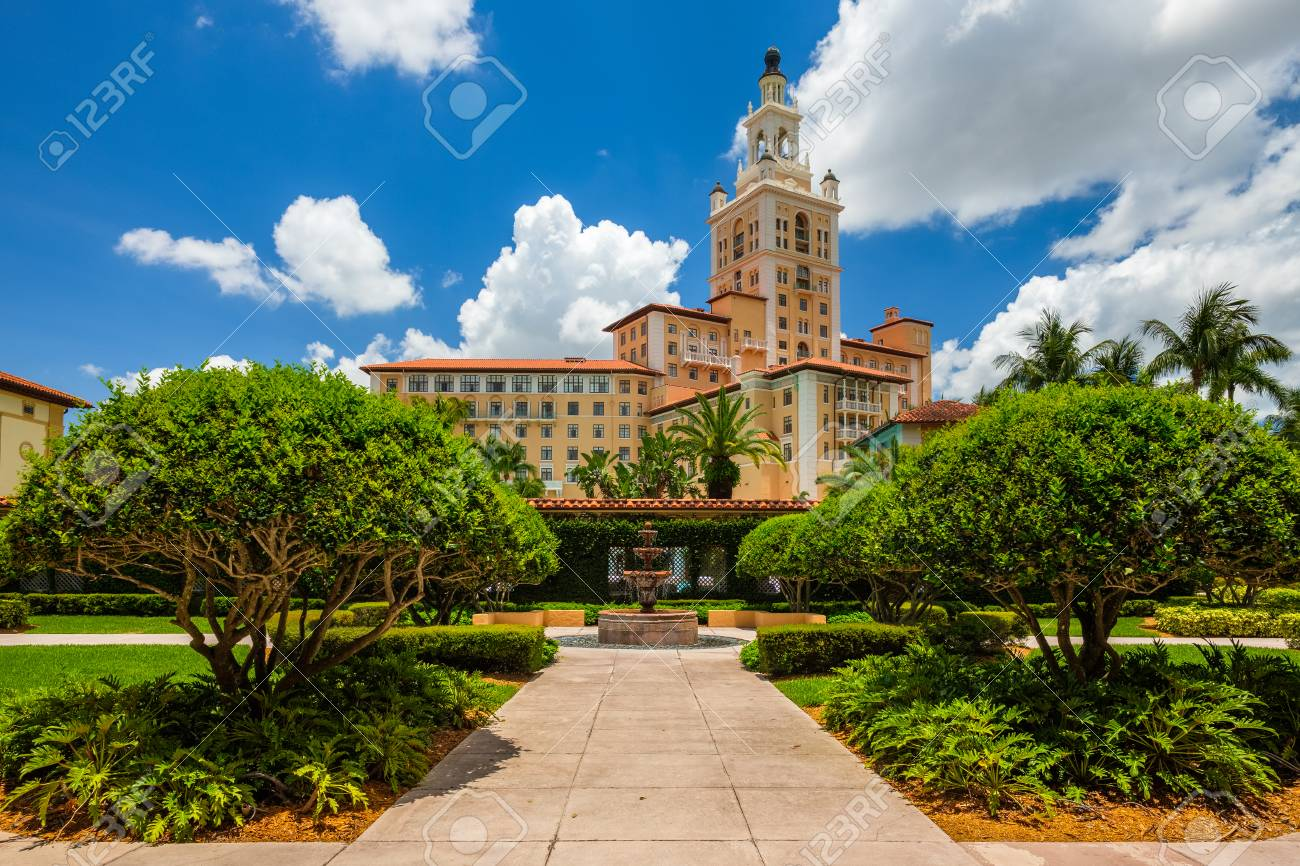 Gables Of St Morris coral gables, fl usa - june 4, 2018: the historic and luxurious..