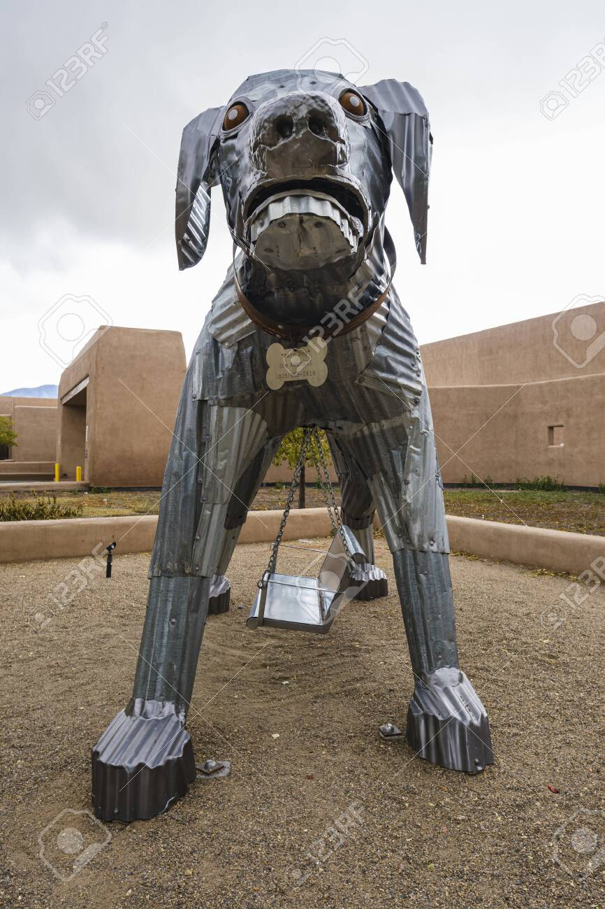 Santa Fe New Mexico Usa October 24 2019 Barn Dog Steel Sculpture Stock Photo Picture And Royalty Free Image Image 136406096