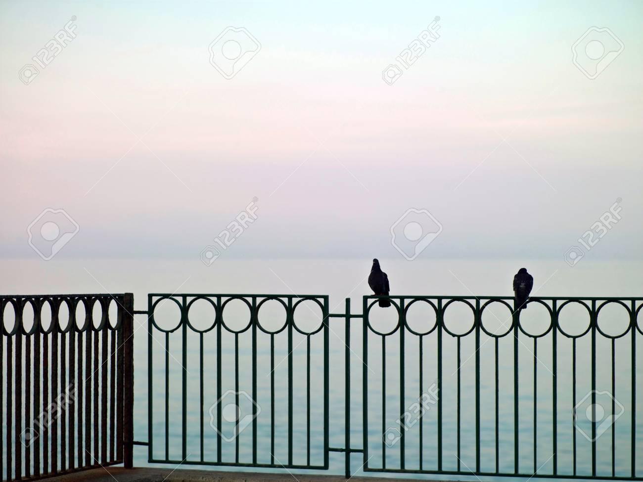 sea landscape with a stone beach promenade Stock Photo - 17494111