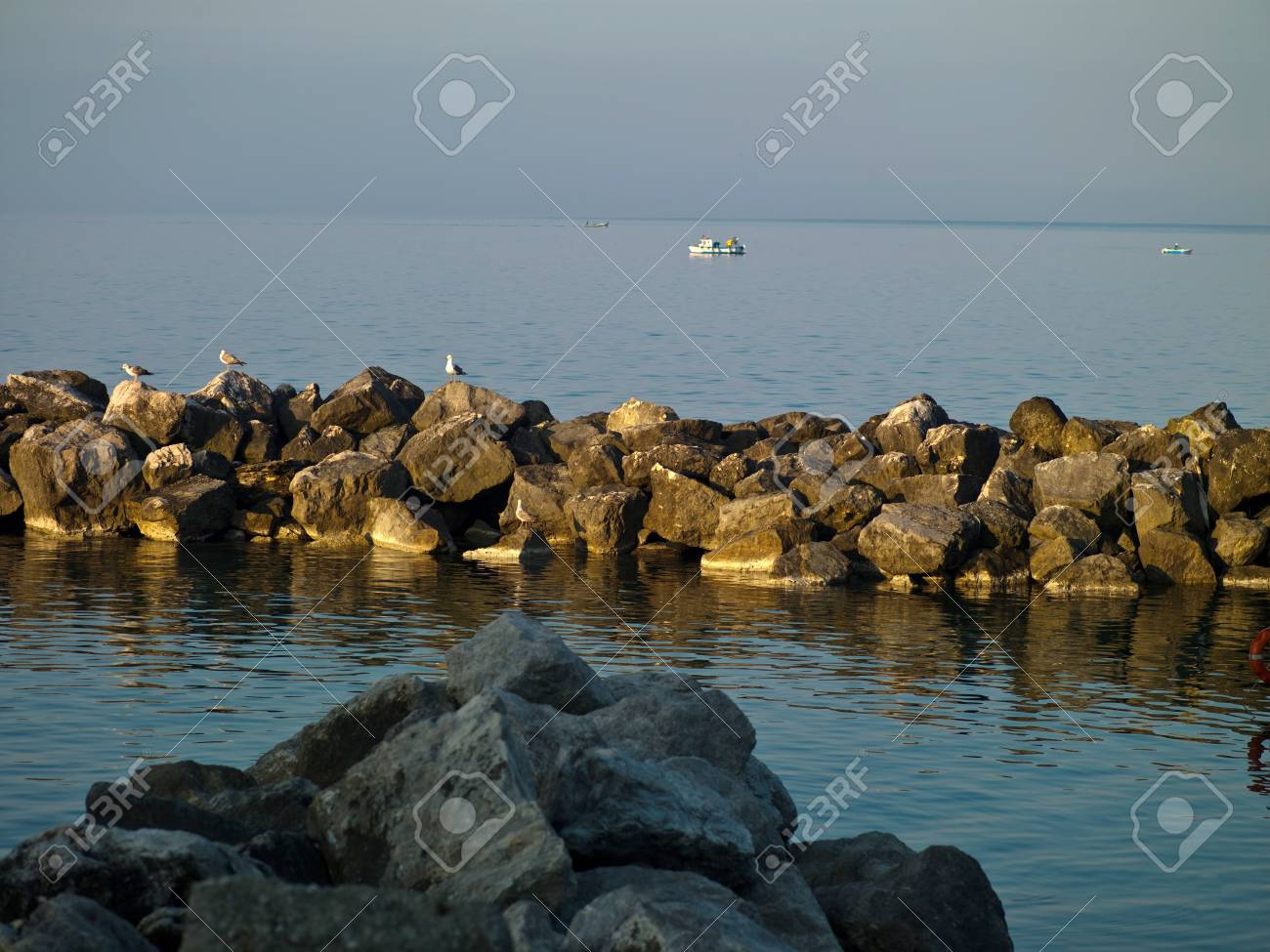 Photo of the Black Sea in the foreground rock of Stock Photo - 17494061