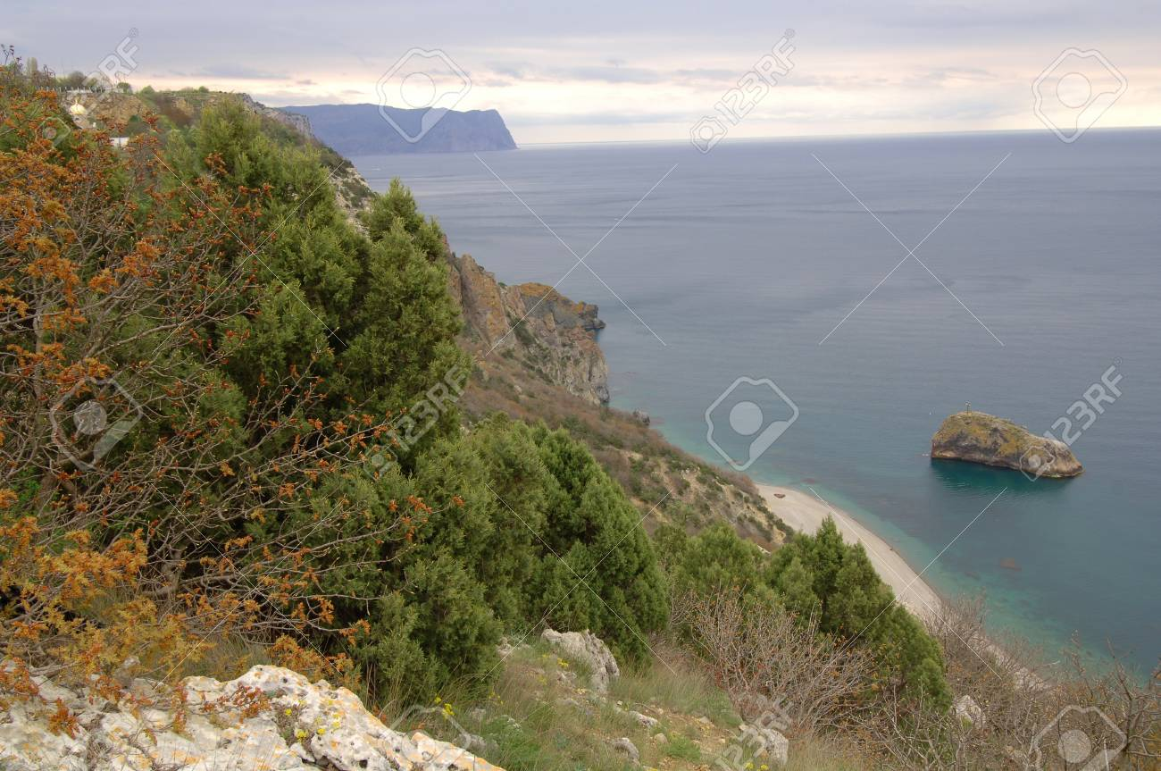 photograph of a beautiful seascape on background sky Stock Photo - 17668554