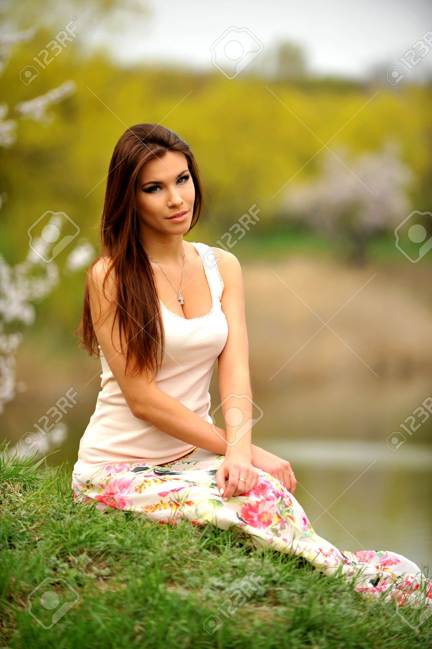 Photo Of Beautiful Sexy Girl On The Nature Stock Photo Picture And Royalty Free Image Image 19908698