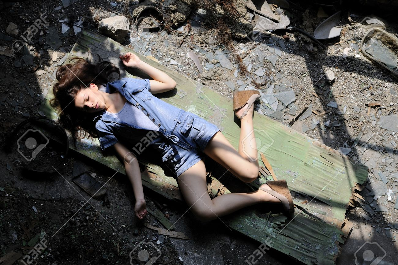 dead body of young woman Stock Photo - 8524192