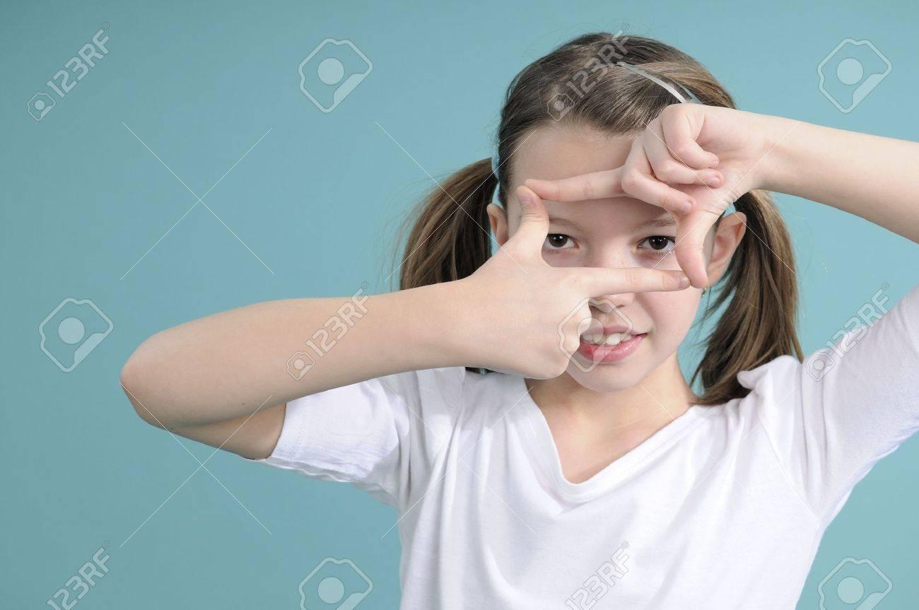 child creating and communicating Stock Photo - 8940400