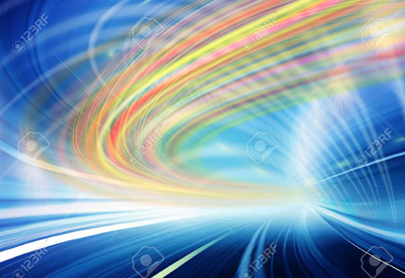 Abstract design of fast speed motion in urban highway tunnel road Stock Photo - 16429250