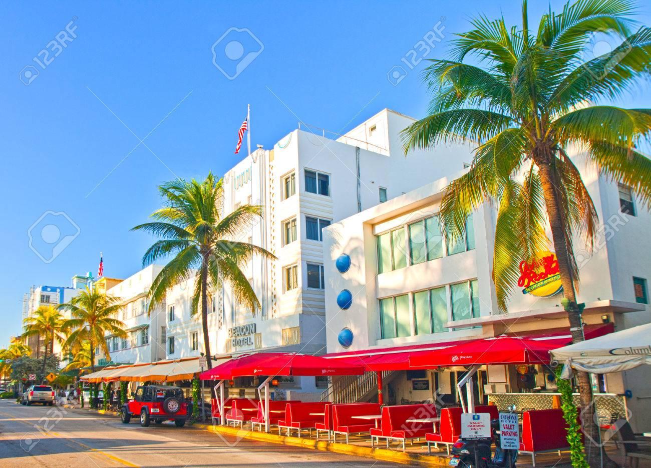 Miami Beach Florida Usa November 11 2015 Miami Beach Summer