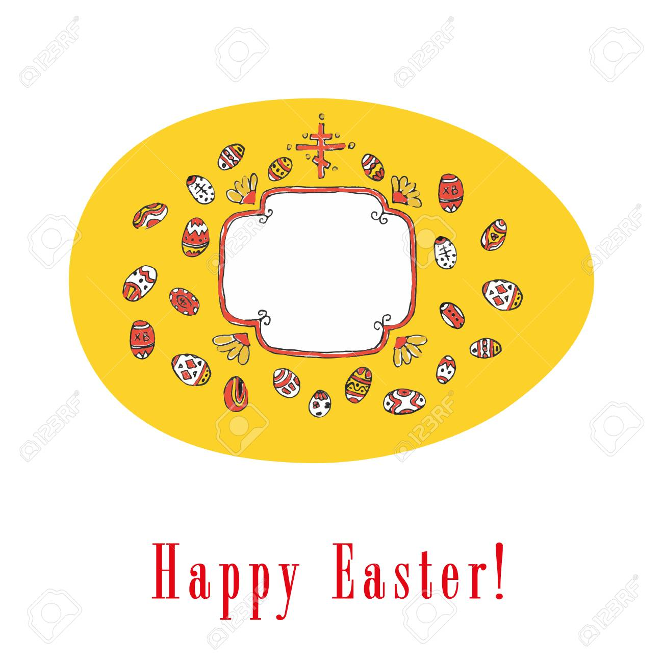 Traditional easter greeting with colored eggs royalty free cliparts traditional easter greeting with colored eggs stock vector 37643013 m4hsunfo