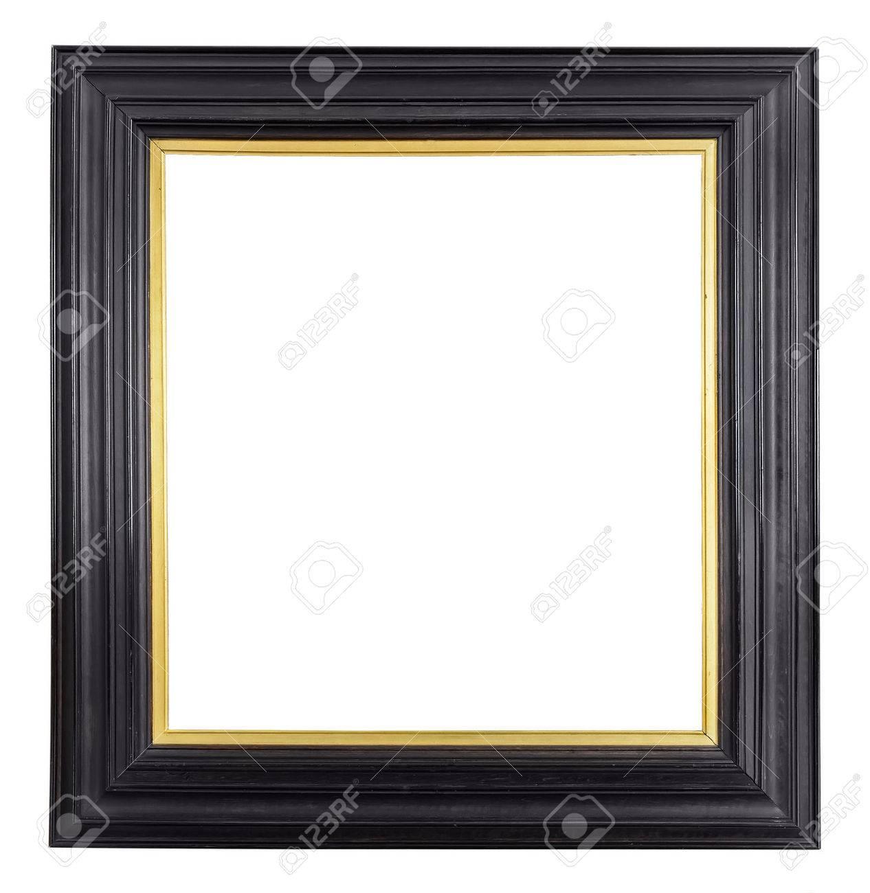 Gold Vintage-Rahmen Auf Weißem Hintergrund Lizenzfreie Fotos, Bilder ...