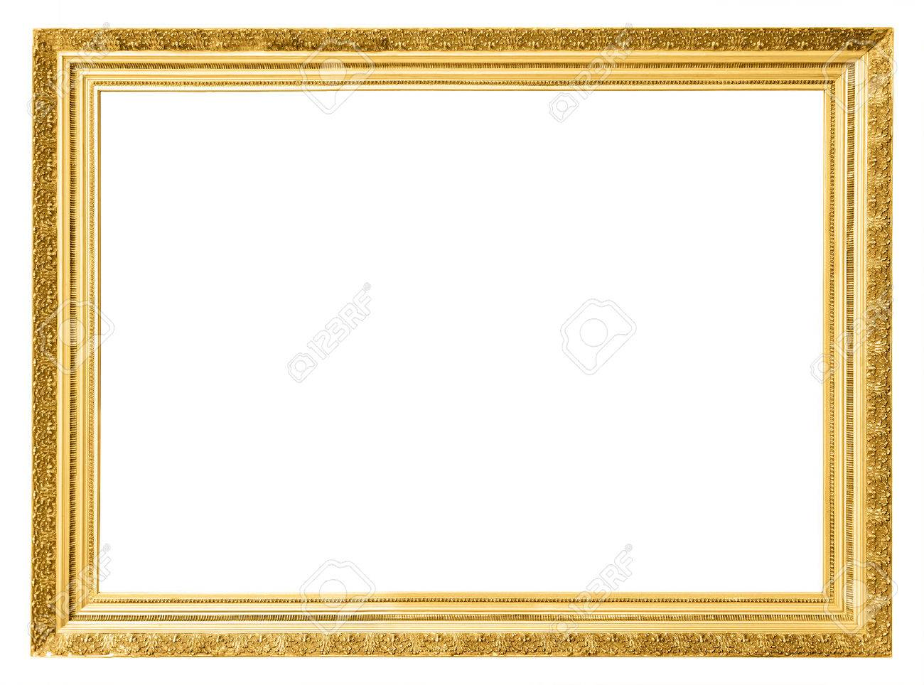 Gold Vintage Frame Isolated On White Background Stock Photo, Picture ...