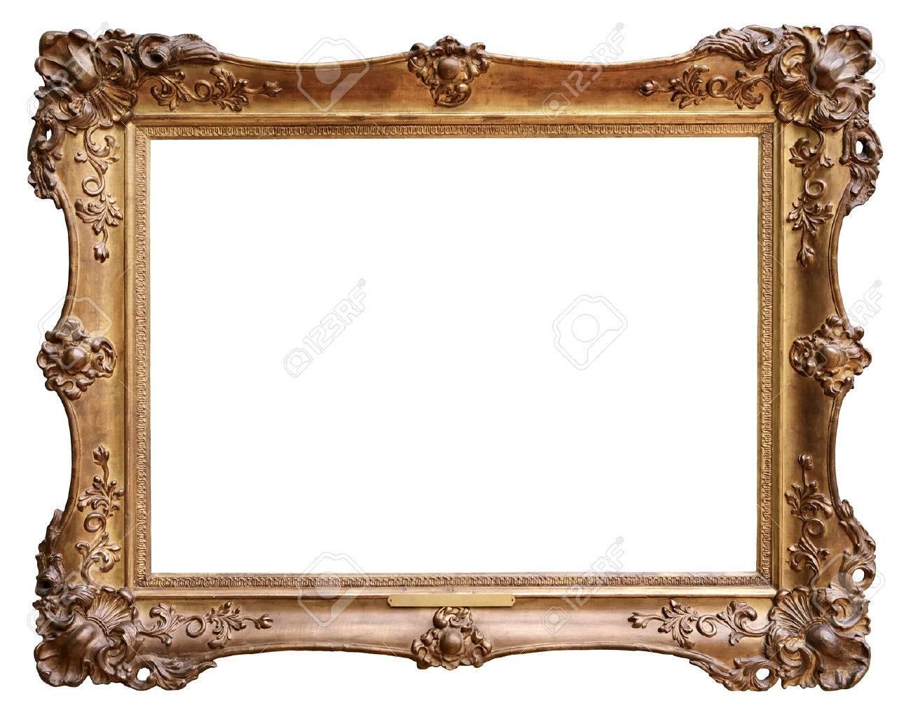 Wooden vintage frame isolated on white background Stock Photo - 48625919