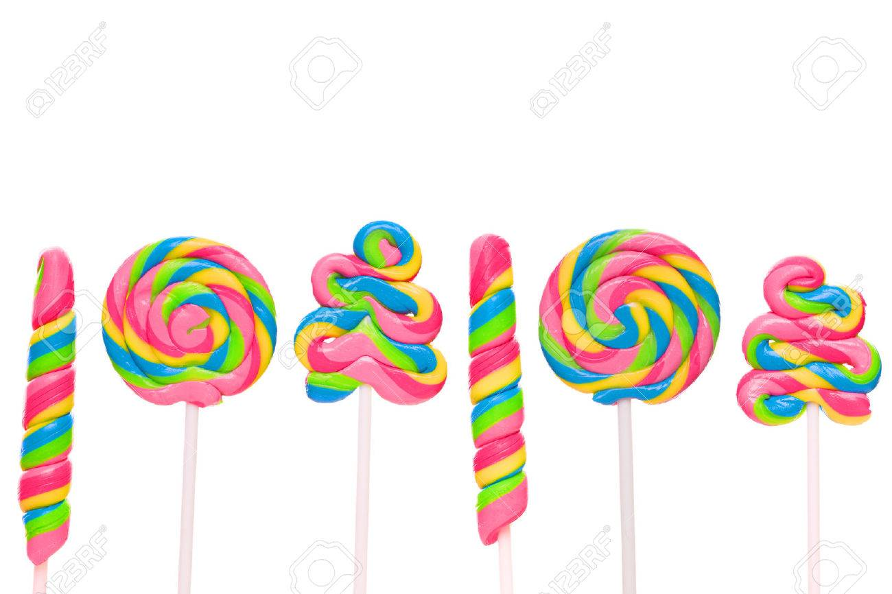 Fantasy sweet candy land with lollies Stock Photo - 40290058