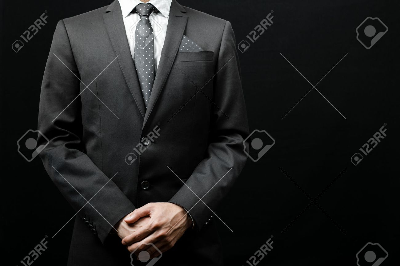 man in suit on a black background. studio shot Stock Photo - 43831972