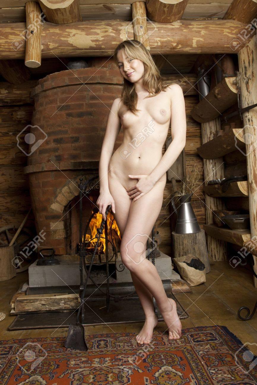 Beautiful blonde in a farmhouse. Stock Photo - 17352687